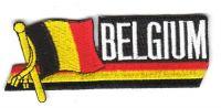 Fahnen Sidekick Aufnäher Belgien