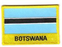 Fahnen Aufnäher Botswana Schrift
