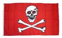 Fahne / Flagge Pirat Freibeuter rot 90 x 150 cm