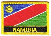 Fahnen Aufnäher Namibia Schrift