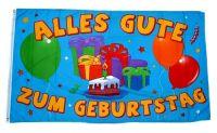Fahne / Flagge Alles Gute zum Geburtstag Ballons 90 x 150 cm