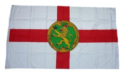 Fahne / Flagge Alderney 90 x 150 cm