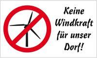 Fahne / Flagge Gegen Anti Windkraft 90 x 150 cm