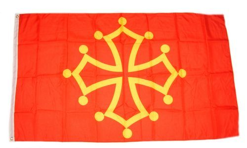 Fahnen Flagge Frankreich Midi Pyrénées 90 x 150 cm