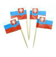 50 Minifahnen Dekopicker Slowakei 30 x 40 mm