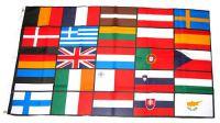 Flagge / Fahne Europa 25 Länder Hissflagge 90 x 150 cm