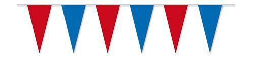 Wimpelkette rot / blau 4 m