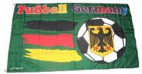 Fahne / Flagge Deutschland Fußball grün 90 x 150 cm