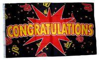Fahne / Flagge Congratulations 90 x 150 cm