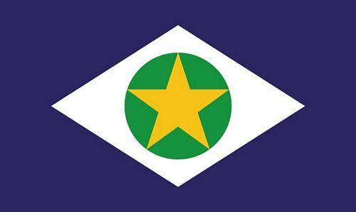 Fahne / Flagge Brasilien - Mato Crosso 90 x 150 cm