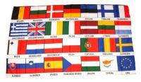 Fahne / Flagge Europa 27 Länder 30 x 45 cm