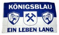 Fahne / Flagge Königsblau ein Leben lang 90 x 150 cm