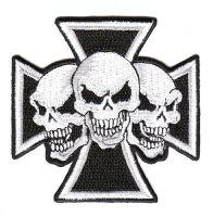 Aufnäher Patch Eisernes Kreuz Totenköpfe