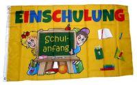 Fahne / Flagge Einschulung Schulanfang 90 x 150 cm