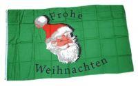 Fahne / Flagge Frohe Weihnachten Kopf 90 x 150 cm