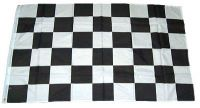Fahne / Flagge Start / Ziel Karo schwarz / weiß 60 x 90 cm