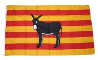 Fahne / Flagge Spanien Katalonien Esel 90 x 150 cm