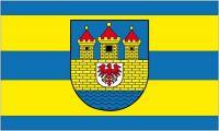 Fahne / Flagge Strasburg Uckermark 90 x 150 cm