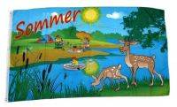 Fahne / Flagge Sommer See 60 x 90 cm
