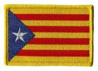 Fahnen Aufnäher Spanien - Estelada Blava