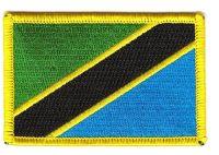 Fahnen Aufnäher Tansania