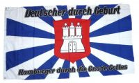 Fahne / Flagge Hamburger durch die Gnade Gottes 90 x 150 cm